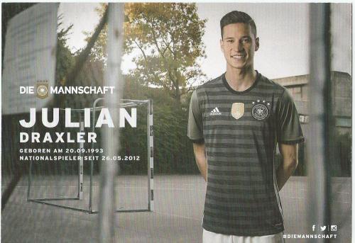 Julian Draxler – die Mannschaft 2016 card 2