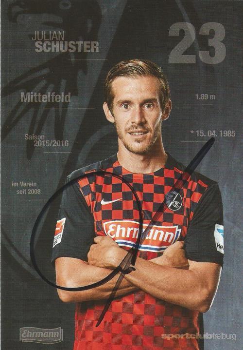Julian Schuster - SC Freiburg 2015-16 card