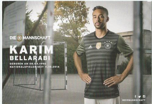 Karim Bellarabi – die Mannschaft 2016 card 2