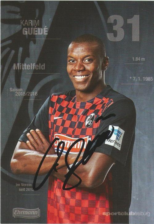 Karim Guede - SC Freiburg 2015-16 card