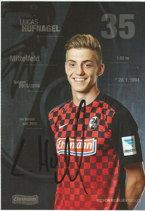 Lucas Hufnagel - SC Freiburg 2015-16 card