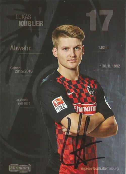 Lukas Kubler - SC Freiburg 2015-16 card