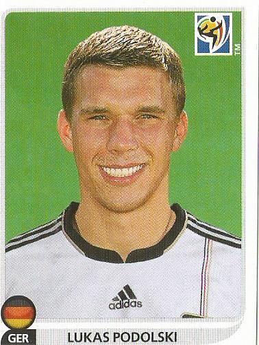 Lukas Podolski - Deutschland - WM 2010 sticker