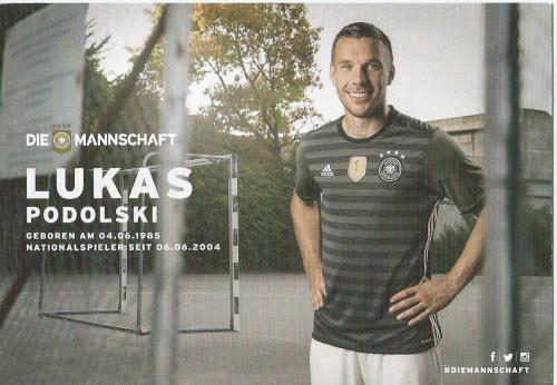Lukas Podolski – die Mannschaft 2016 card 2