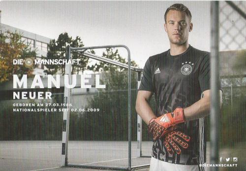 Manuel Neuer – die Mannschaft 2016 card 2