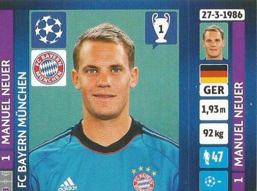 Manuel Neuer – FC Bayern München – CL 2013-14 sticker