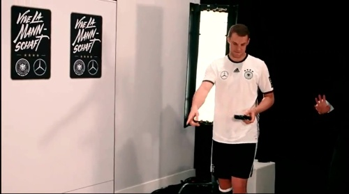 Manuel Neuer - making of Mercedes ad 3