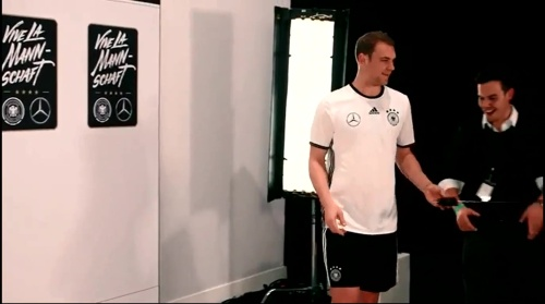 Manuel Neuer - making of Mercedes ad 4