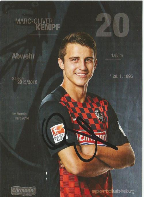 Marc-Oliver Kempf - SC Freiburg 2015-16 card