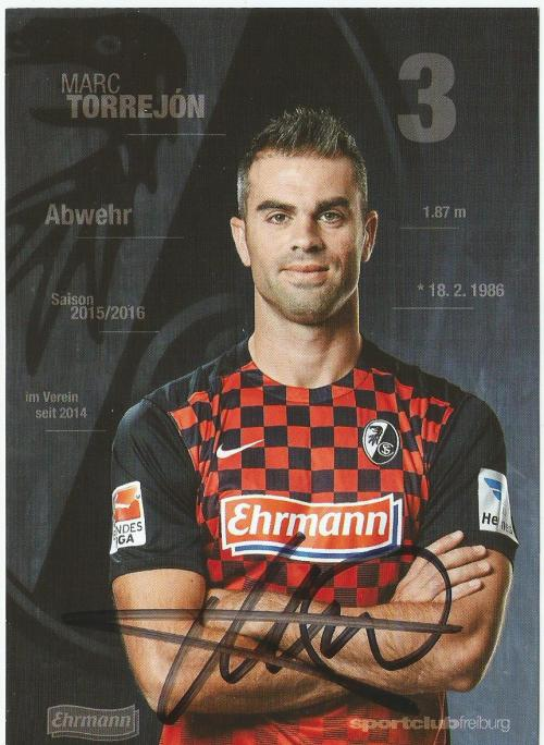 Marc Torrejon - SC Freiburg 2015-16 card