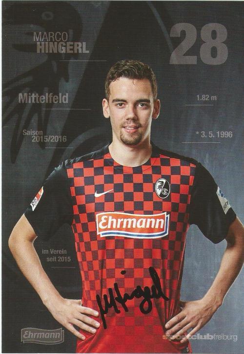 Marco Hingerl - SC Freiburg 2015-16 card
