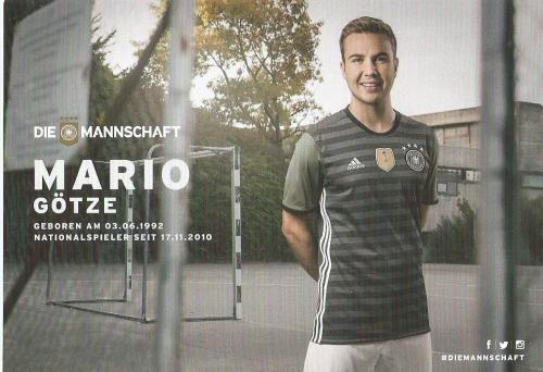 Mario Götze – die Mannschaft 2016 card 2