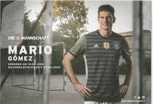 Mario Gomez – die Mannschaft 2016 card 2