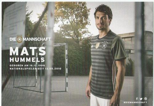 Mats Hummels – die Mannschaft 2016 card 2