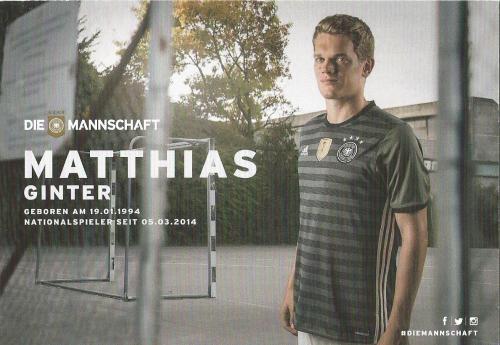 Matthias Ginter – die Mannschaft 2016 card 2