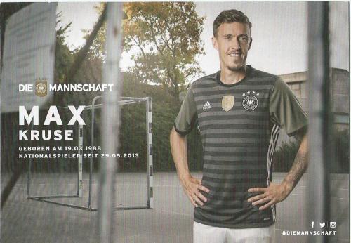 Max Kruse – die Mannschaft 2016 card 2