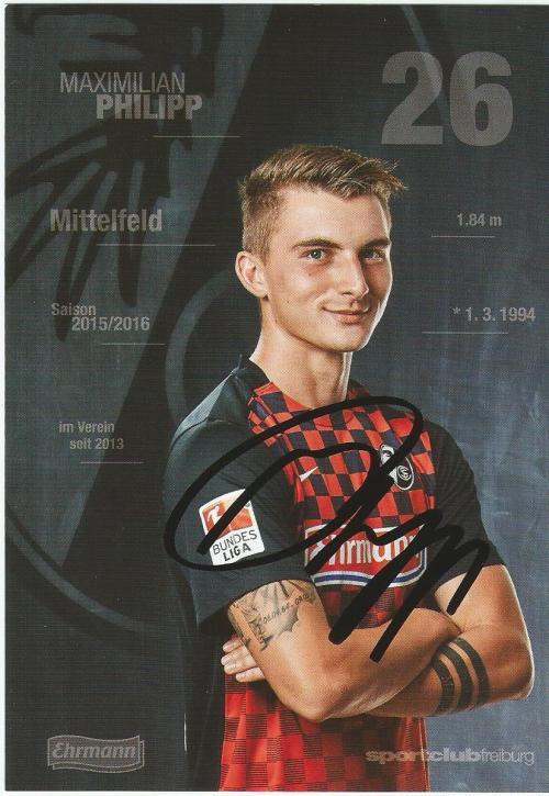 Maximilian Philipp - SC Freiburg 2015-16 card