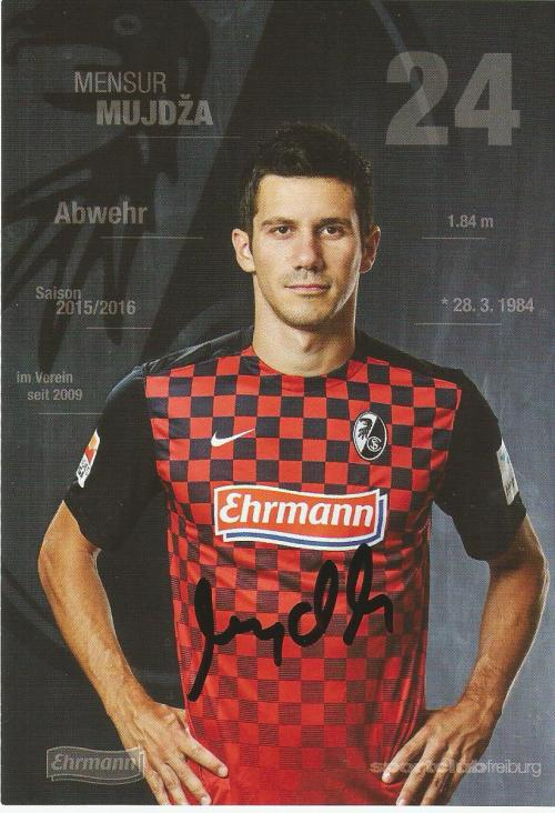 Mensur Mujdža - SC Freiburg 2015-16 card