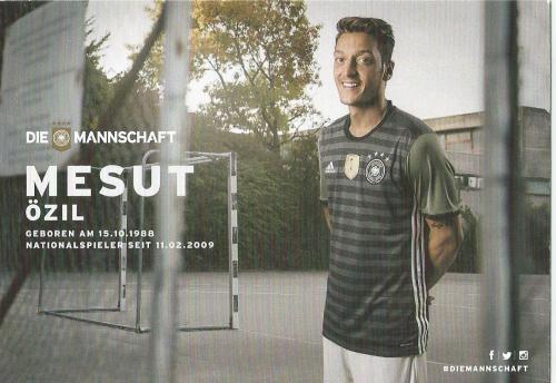 Mesut Özil – die Mannschaft 2016 card 2