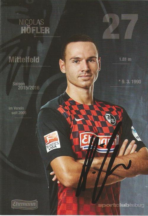 Nicolas Höfler - SC Freiburg 2015-16 card