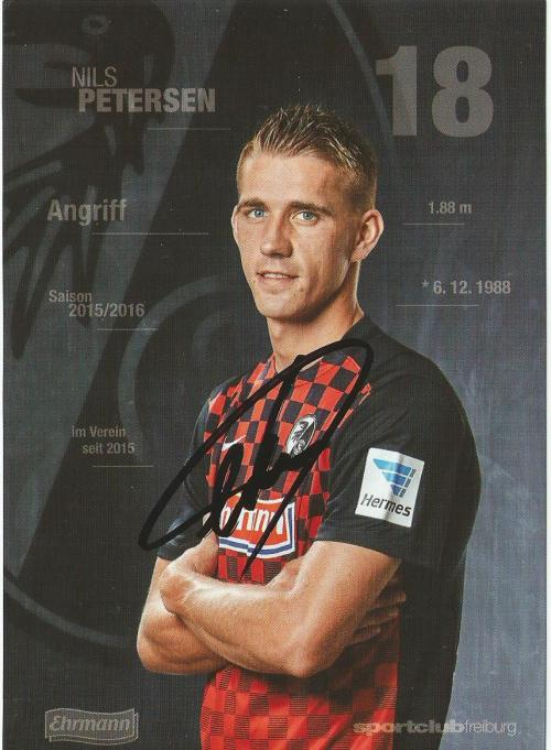 Nils Petersen - SC Freiburg 2015-16 card