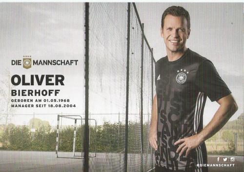 Oliver Bierhoff – die Mannschaft 2016 card 2
