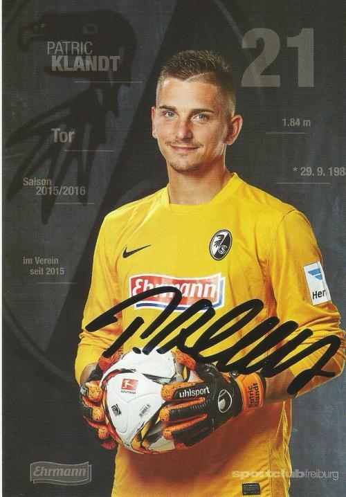 Patric Klandt - SC Freiburg 2015-16 card