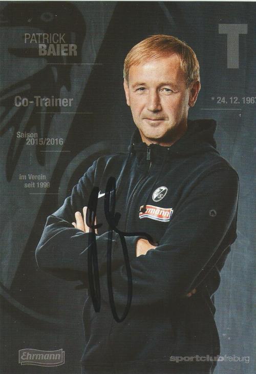Patrick Baier - SC Freiburg 2015-16 card