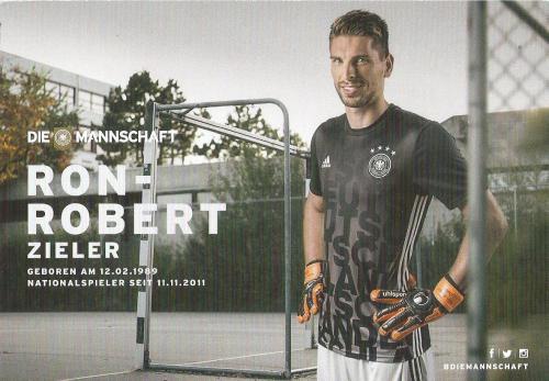 Ron-Robert Zieler – die Mannschaft 2016 card 2
