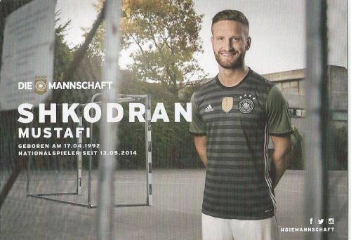 Shkodran Mustafi – die Mannschaft 2016 card 2