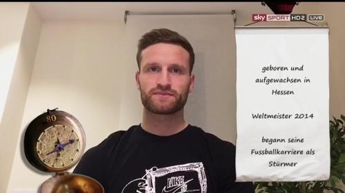 Shkodran Mustafi pre-match show interview - Valencia v Rapid Wien 3