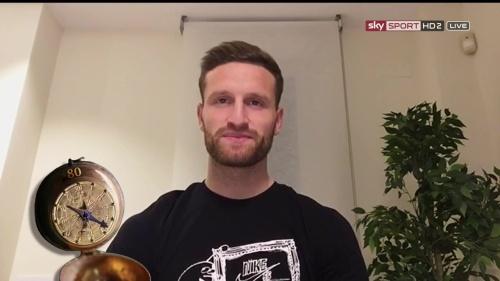 Shkodran Mustafi pre-match show interview - Valencia v Rapid Wien 4