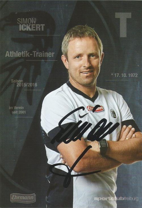 Simon Ickert - SC Freiburg 2015-16 card