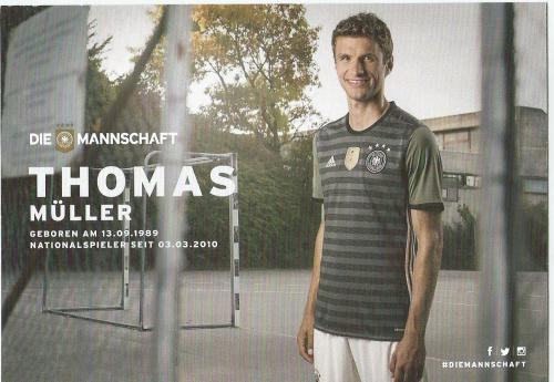 Thomas Müller– die Mannschaft 2016 card 2