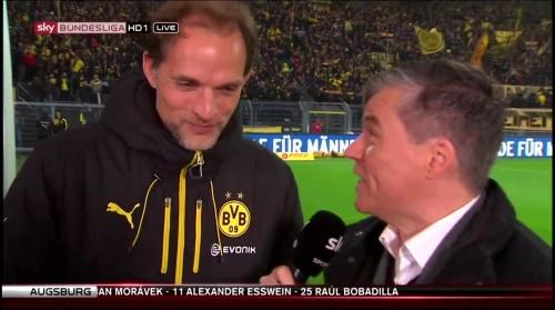Thomas Tuchel - pre-match interview - Borussia Dortmund v Ingolstadt 5