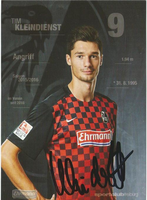 Tim Kleindienst - SC Freiburg 2015-16 card