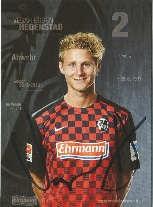 Vegar Eggen Hedenstad - SC Freiburg 2015-16 card