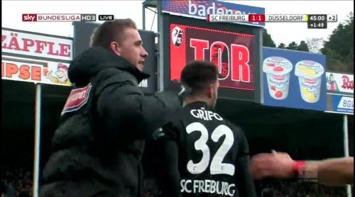 Vincenzo Grifo & Nils Petersen celebrate – SC Freiburg v Fortuna Düsseldorf 3