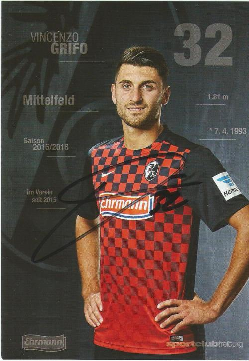 Vincenzo Grifo - SC Freiburg 2015-16 card