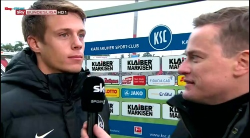 Alexander Schwolow - post-match interview - KSC v SCF 1