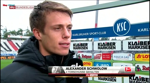 Alexander Schwolow - post-match interview - KSC v SCF 2