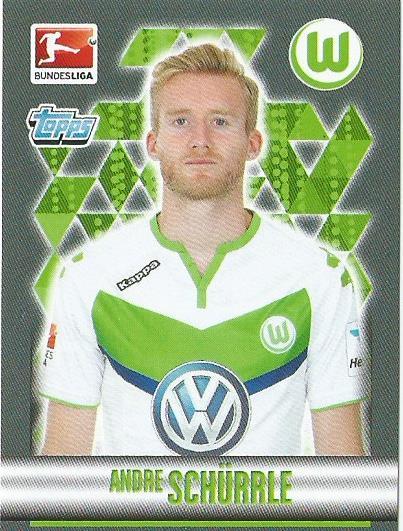 Andre Schürrle – VfL Wolfsburg – Bundesliga 2015-16 sticker