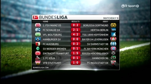 Bundesliga MD9 results