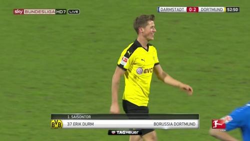 Erik Durm - Darmstadt v Dortmund 1