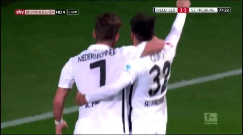 Florian Niederlechner & Vincenzo Grifo - Arminia Bielefeld v SC Freiburg 2