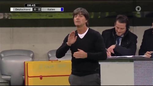 Joachim Löw 1st half – Deutschland v Italien 10