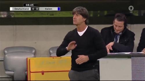 Joachim Löw 1st half – Deutschland v Italien 11