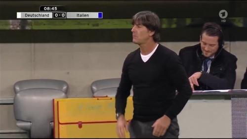 Joachim Löw 1st half – Deutschland v Italien 12