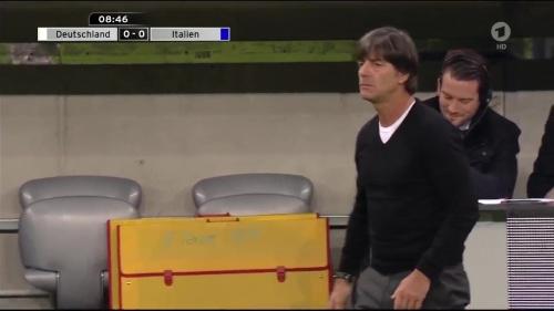Joachim Löw 1st half – Deutschland v Italien 13