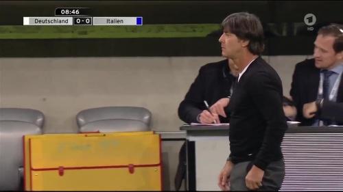 Joachim Löw 1st half – Deutschland v Italien 14